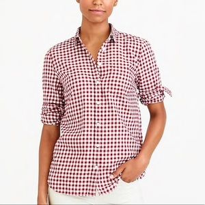 NWT J.Crew Flannel Oxford Buffalo Button Up Shirt